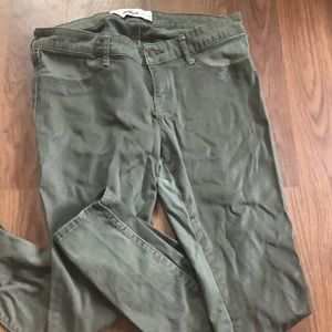 Olive Green Hollister Jeans